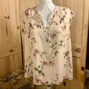 🍒 ST Tropaz West - Floral Frilly Sleeveless Top